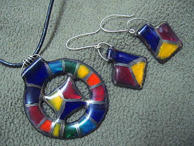 Hand Painted Pendant Jewelry - Spector by Asya Ostrovsky