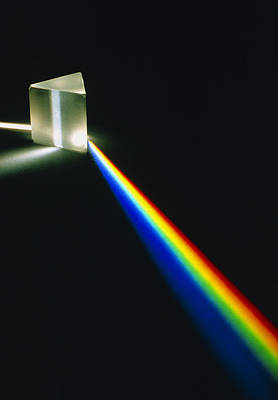 Spectral Light From Prism Print by David Parker
