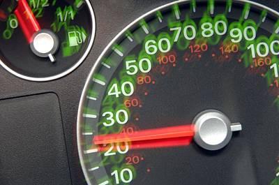 Speedometer Print by Johnny Greig