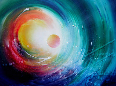 Inner World Painting - Sphere F31 by Drazen Pavlovic