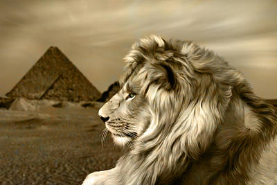 Lion Digital Art - Sphinx by Julie L Hoddinott