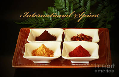 Spices From Around The World Print by Inspired Nature Photography Fine Art Photography