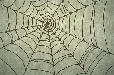 Individuality Digital Art - Spider Web Drawing by Barbara Chase