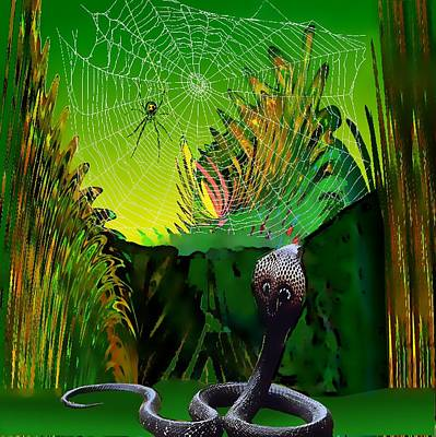 Digital Art - Spiders And Snakes by Rod Saavedra-Ferrere