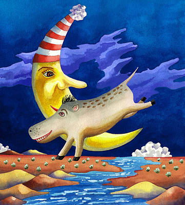 Childrens Book Illustration Painting - Spike The Dhog Arrives by Anne Gifford