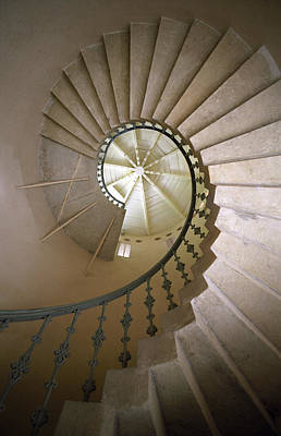 Spiral Stairs - Krakow Print by Martin Cameron