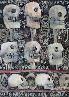 Collagraph Mixed Media - Spirit Of The Dead by Pamela Iris Harden
