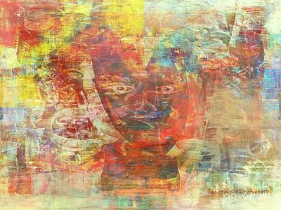 Faniart Africa America Painting - Spiritual Authority - Forward  by Fania Simon