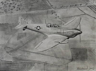 Spitfire Print by Brian Hustead
