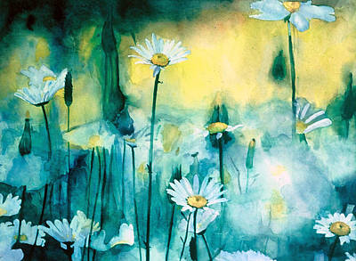 Daisies Painting - Splash Of Daisies by Cyndi Brewer