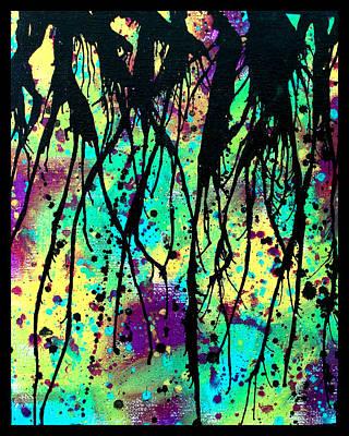 Drips Painting - Splatter Roots 03 by Kalie Hoodhood