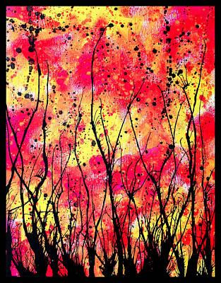 Drips Painting - Splatter Roots 05 by Kalie Hoodhood