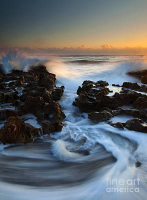 Dawn Photograph - Splitting The Reef by Mike  Dawson