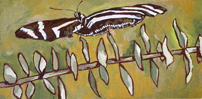 Striped Butterfly Painting - Spreading Your Wings by Sandy Tracey
