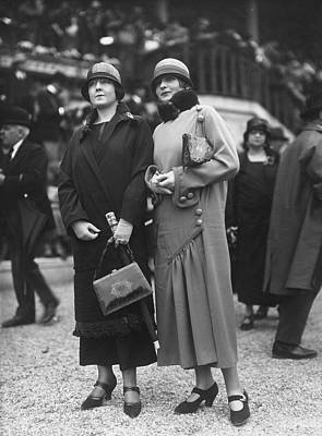 Cloche Hat Photograph - Spring Coats by Seeberger Freres