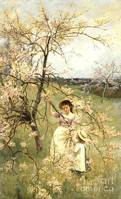 In Bloom Painting - Spring by Henry George Todd