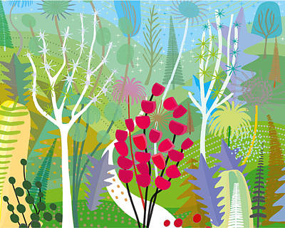 Spring In The Park Print by Charles Harker