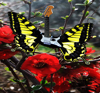 Lepidopterans Digital Art - Spring Is Electric by Eric Kempson