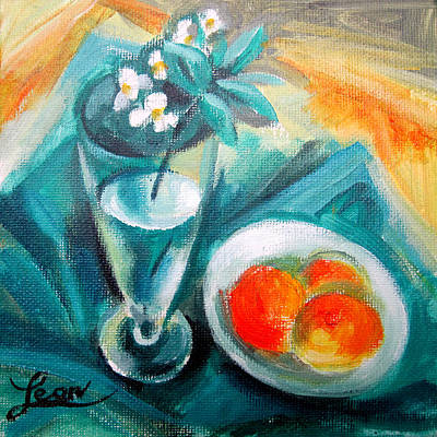 Flowers In A Vase Painting - Spring Melody II by Leon Zernitsky