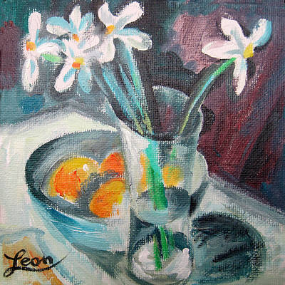 Flowers In A Vase Painting - Spring Melody  by Leon Zernitsky