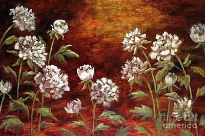 Mo Artist Painting - Spring Peonies by Vic  Mastis