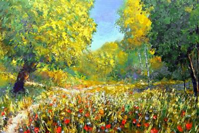 Spring Walk Print by Georgiana Romanovna