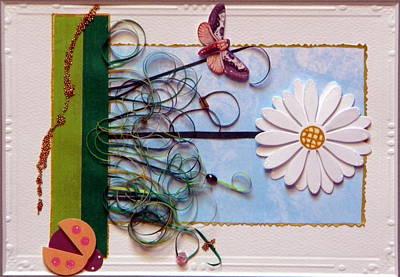 Gracie Mixed Media - Springdaisy by Gracies Creations