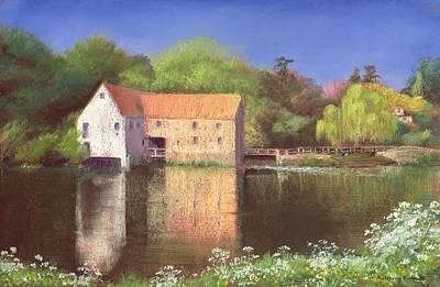 Water Mills Painting - Springtime At The Mill by Anthony Rule