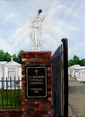 New Orleans Painting - St. Bernard Historic Cemetery by Elaine Hodges