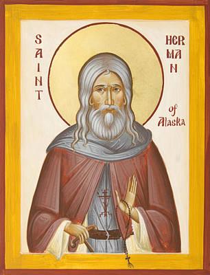 St Herman Of Alaska Print by Julia Bridget Hayes