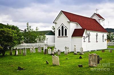 St. Luke's Church In Placentia Newfoundland Print by Elena Elisseeva