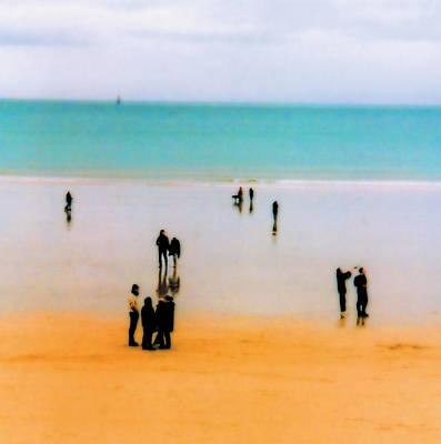 St Malo Beach Print by Nigel Chaloner