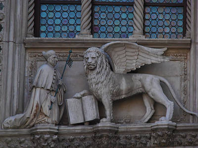 Lion Photograph - St. Marco And The Lion by Bill Cannon