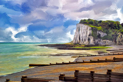 St. Margaret's Bay At Dover Print by Dominic Piperata