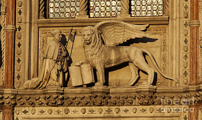 St. Mark The Winged Lion Print by Chris Hill