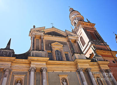 Menton Photograph - St Michel Church In Menton by Gualtiero Boffi