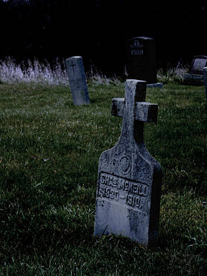 St Patricks Cemetery Circa 1860 Print by John Herzog