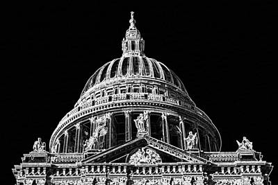 Wren Digital Art - St Pauls Cathedral by David Pyatt