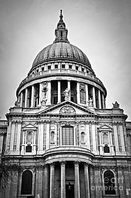 St. Paul's Cathedral In London Print by Elena Elisseeva