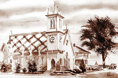 Religious Mixed Media - St. Pauls Episcopal Church IIi by Kip DeVore
