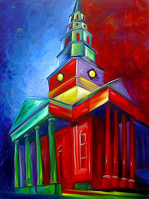 Charleston Houses Painting - St. Phillips Church by James Christopher Hill