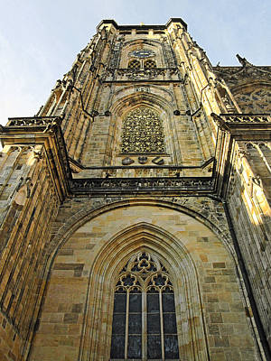 Church Photograph - St Vitus Cathedral Prague - The Realms Of 'non-being' by Christine Till