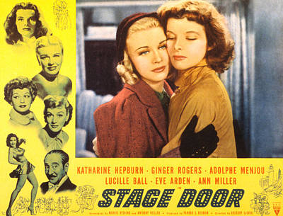 Stage Door, Ginger Rogers, Katharine Print by Everett