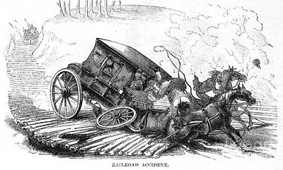 Stagecoach Accident, 1856 Print by Granger