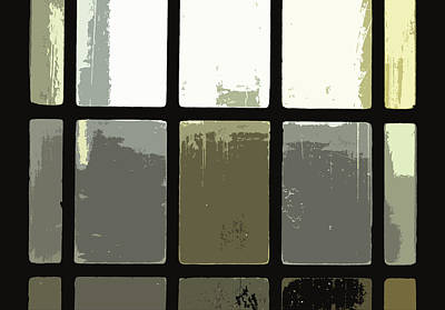 Stained Glass Doors 2 Print by Peter  McIntosh