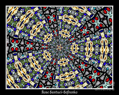 Mandala Photograph - Stained Glass Kaleidoscope 34 by Rose Santuci-Sofranko