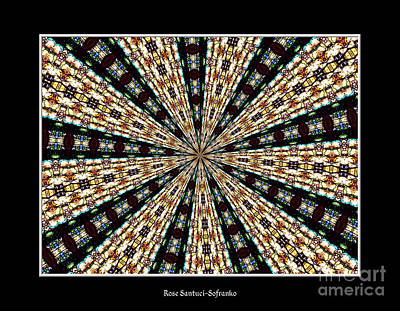 Stained Glass Kaleidoscope 39 Print by Rose Santuci-Sofranko