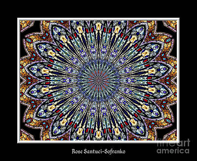 God Photograph - Stained Glass Kaleidoscope 53 by Rose Santuci-Sofranko