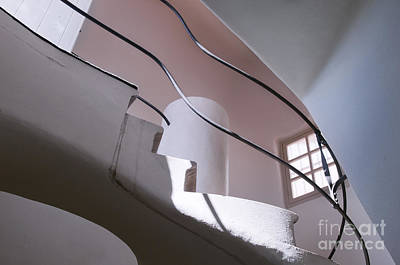 Staircase Interior In Casa Batllo Barcelona  Print by Design Remix