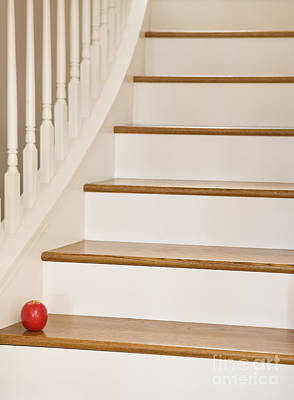 Stairs And Apple Print by Andersen Ross